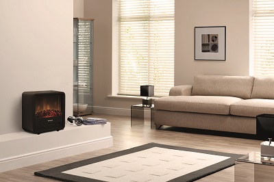 Cube portable electric fire