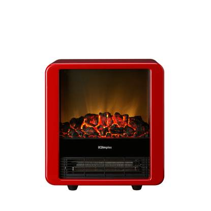 Minicube electric fire in red
