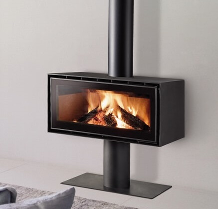 ADF freestanding wood heater with pedestal