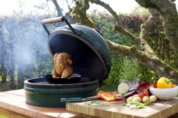 Big Green Egg roast chicken