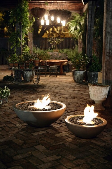 Bioethanol fire tables and fire pits