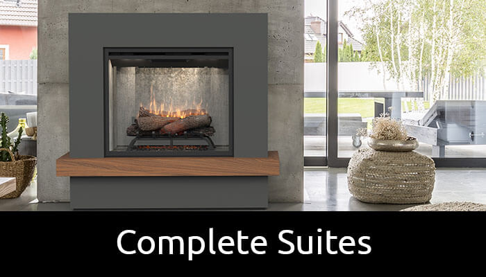 Complete Suites all in one electric fireplaces with mantels