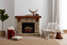 Dimplex Fieldstone complete suite electric fireplace with mantel