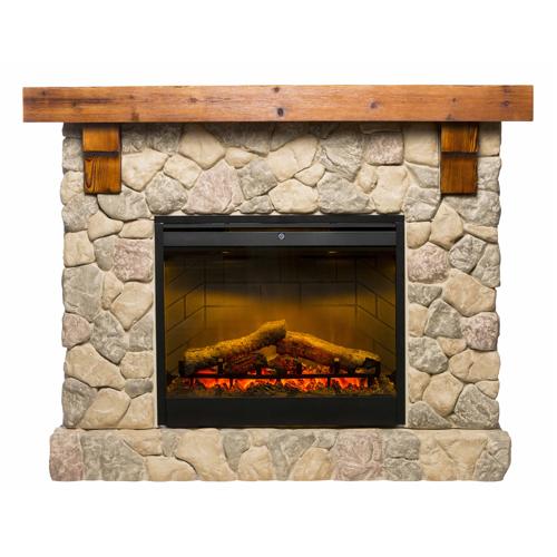 Dimplex Fieldstone complete suite electric fireplace