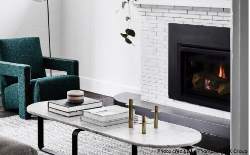 Gas fireplace inserts for brick chimney fireplaces