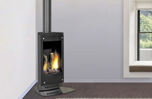 Heat and Glo VRTIKL freestanding gas fireplace