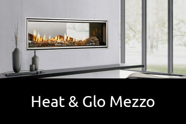 Heat and Glo Mezzo luxury gas fireplace