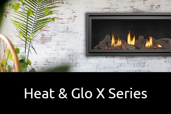 Heat and Glo X Series gas log fireplaces