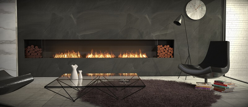 Inbuilt bioethanol fireplaces