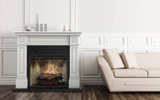 Dimplex Osbourne complete suite electric fireplace with mantel