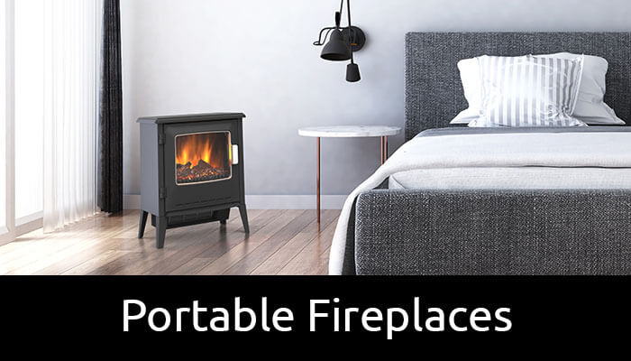 Portable electric fireplaces