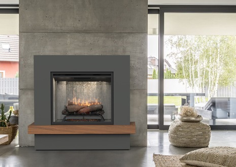Dimplex Sherwood complete suite electric fireplace with mantel