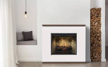Dimplex Strata complete suite electric fireplace with mantel