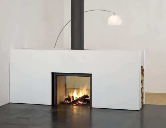 Stuv 21 Inbuilt double sided fireplace