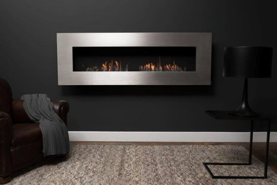 Wall mounted bioethanol fireplaces