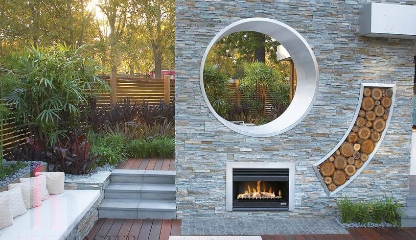 Wood Fire Outdoor Installation