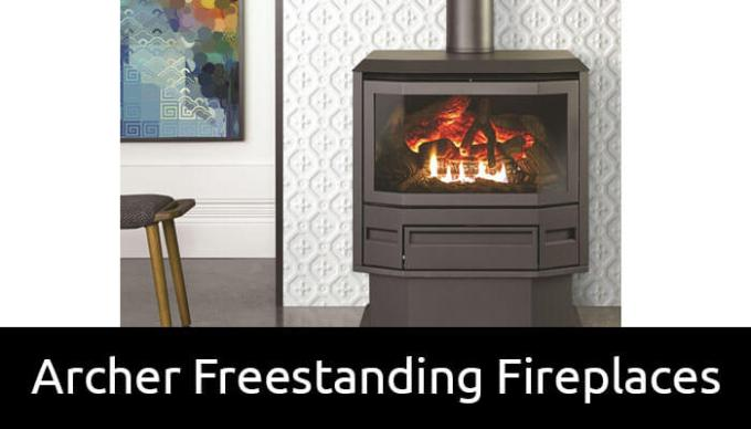 Archer freestanding gas fireplaces