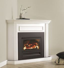 Archer Gas Log Fire 700 Series - Flat Front - Insert in mantel