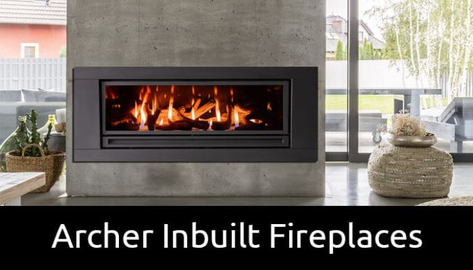 Archer inbuilt gas fireplaces