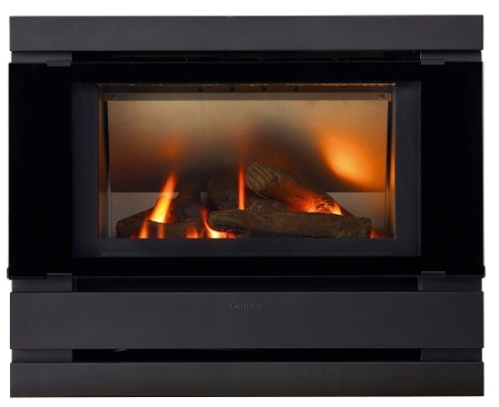 Cannon Fitzroy Profile Inbuilt Gas Heater Black
