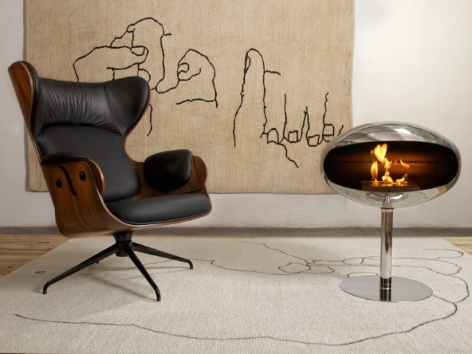 Cocoon Fires Pedestal stainless steel