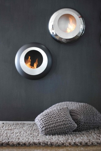 Cocoon Fires Vellum Black and Stainless Steel