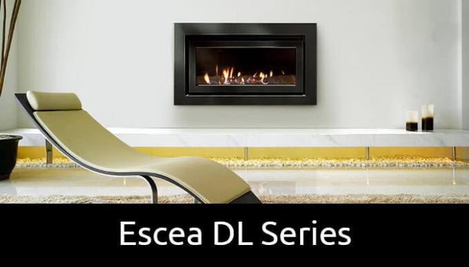 Escea DL Series inbuilt gas fireplaces