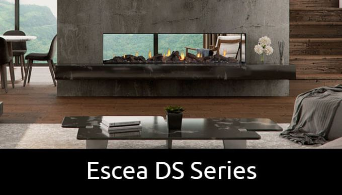 Escea DS Series double and single sided gas fireplaces