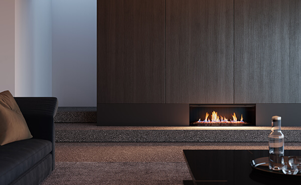 Rinnai LS1000 gas fireplace installation