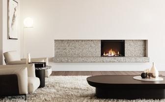 Rinnai LS800 gas fireplace installation