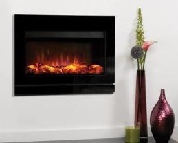 Gazco Riva GER670V Electric Fire with Designio2 black glass fascia