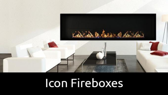 Icon bioethanol fireboxes