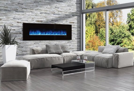 Modern Flames Ambiance CLX Deluxe 2m electric fireplace - blue