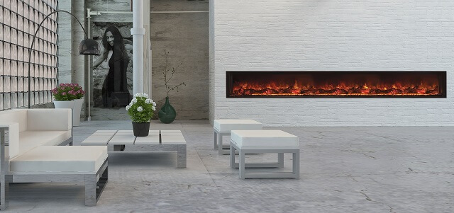Modern Flames Landscape Full View 3m electric fireplace
