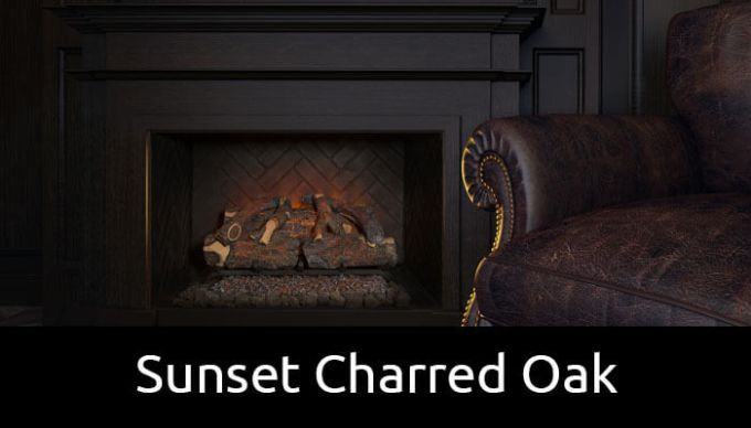Modern Flames sunset charred oak electric fireplace insert