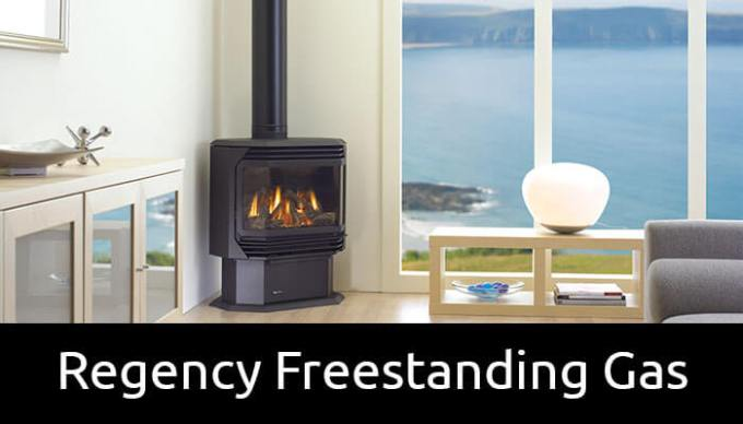 Regency freestanding gas fireplaces