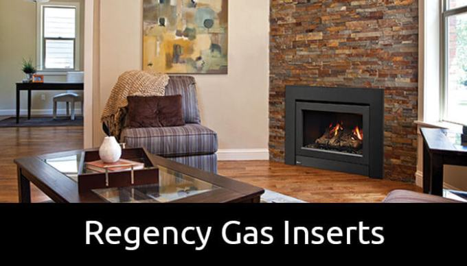 Regency gas inserts for brick chimney fireplaces
