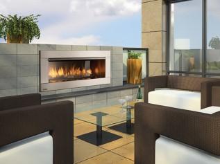 Regency Gemfire HZO42 outdoor gas fireplace