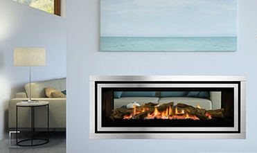 Regency GF1500ST double sided inbuilt gas fireplace