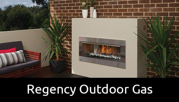 Regency outdoor gas fireplace