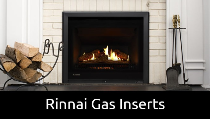 Rinnai Gas Inserts for existing brick chimney fireplaces
