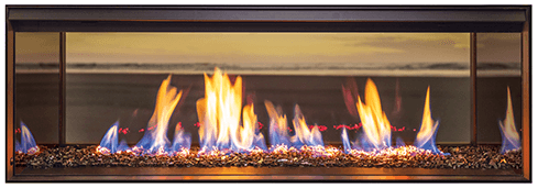 Rinnai LS1000 double sided gas fireplace
