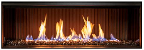 Rinnai LS1000 single sided gas fireplace