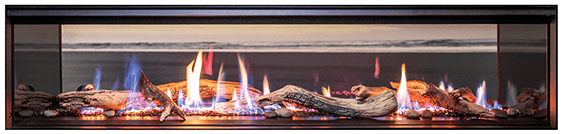 Rinnai LS1500 double sided gas fireplace
