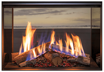 Rinnai LS800 double sided gas fireplace