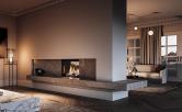 Rinnai LS800 see through gas fireplace
