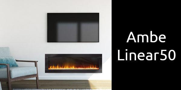 Ambe Linear 50 inbuilt electric fireplace