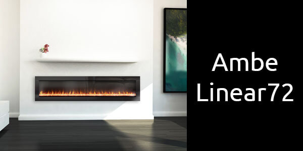 Ambe Linear 72 inbuilt electric fireplace