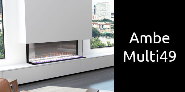 Ambe Multi 49 three sided electric fireplace