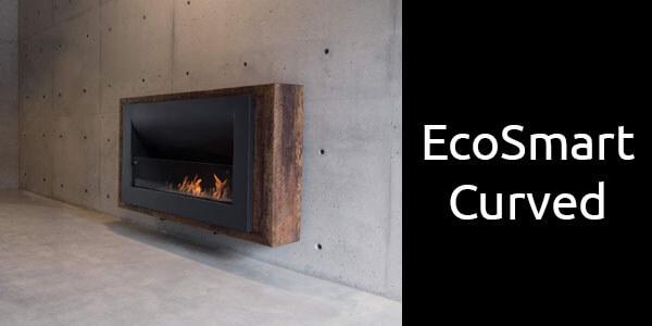 EcoSmart Curved bioethanol fireplace